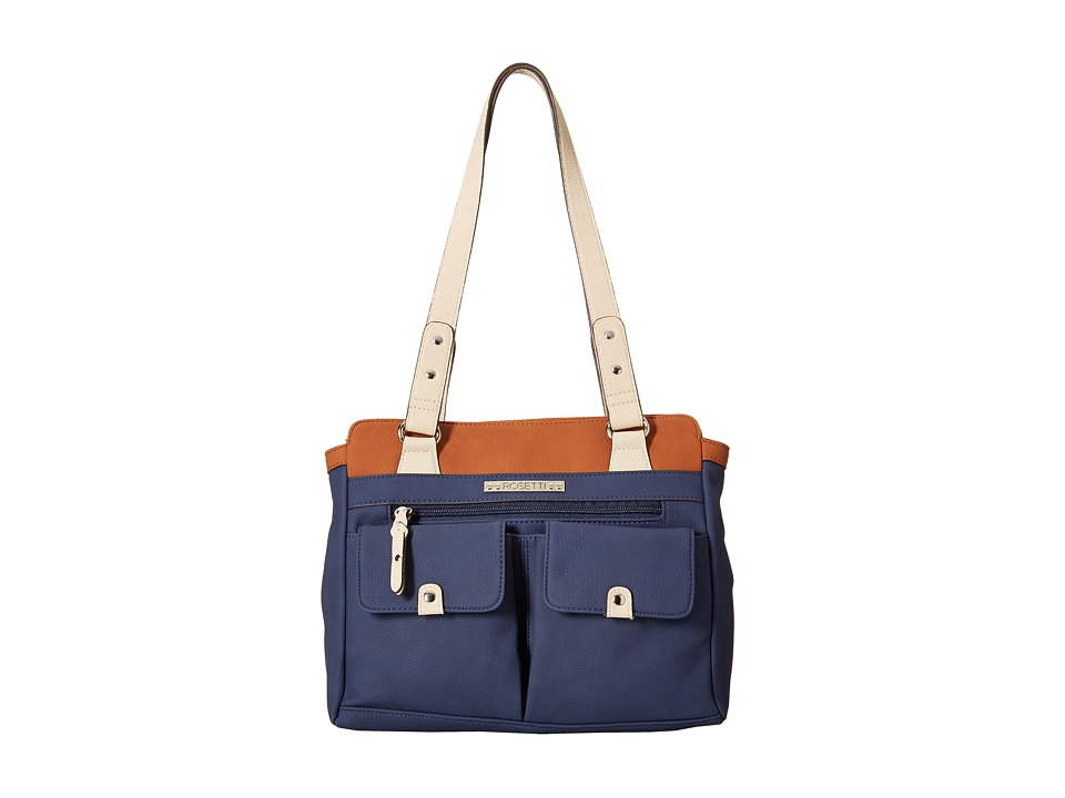Rosetti - Pocket Change Satchel (Pacific Navy Color Block) Satchel Handbags