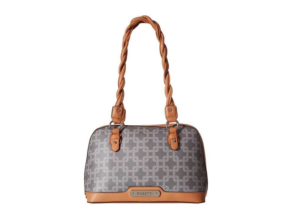 Rosetti - Logo Motion Dome Satchel (Grey Emerson) Satchel Handbags
