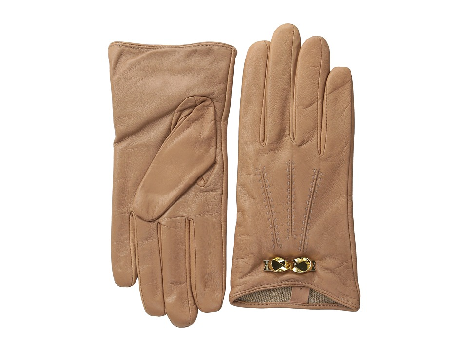 Ted Baker - Bowra Metal Bow Leather Gloves (Mink) Extreme Cold Weather Gloves