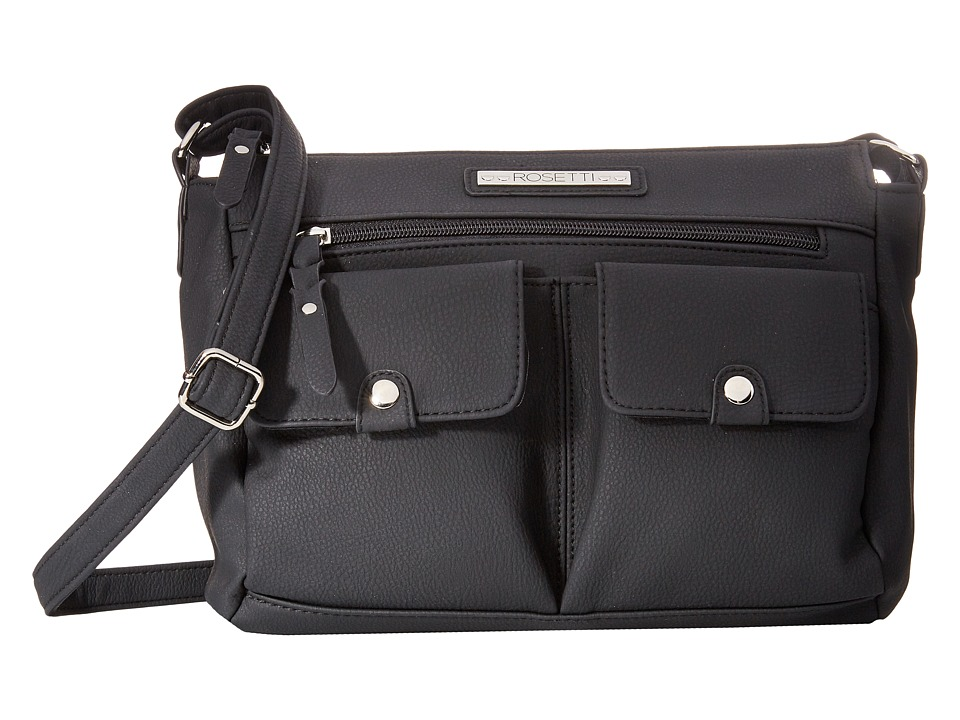 Rosetti - Pocket Change Mid Crossbody (Black) Cross Body Handbags
