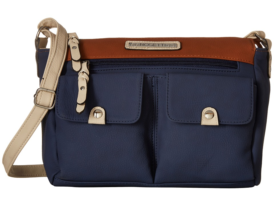 Rosetti - Pocket Change Mid Crossbody (Pacific Navy Color Block) Cross Body Handbags