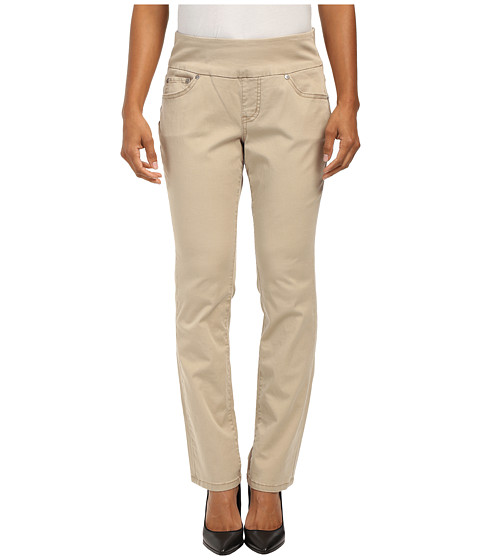 Jag Jeans Petite - Petite Peri Pull On Straight Twill Pants (British Khaki) Women