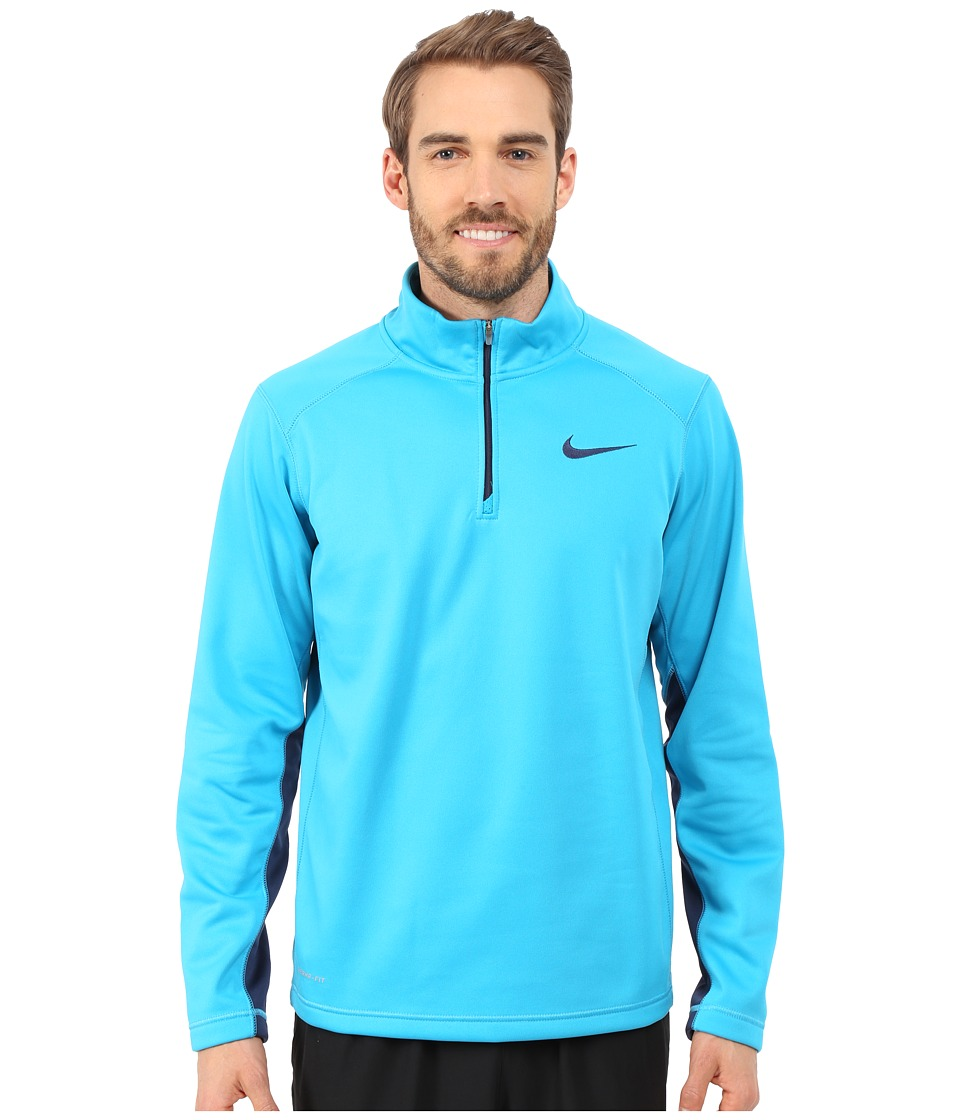 Nike - KO 1/4 Zip Top (Blue Lagoon/Midnight Navy/Midnight Navy) Men's Workout