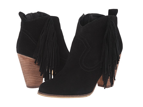 Steve Madden - Ohio (Black Suede) Women's Zip Boots