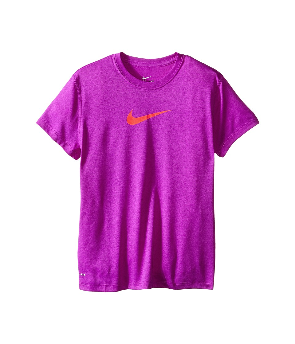 Nike Kids - Legend S/S Top (Little Kids/Big Kids) (Vivid Purple/Vivid Purple/Bright Crimson) Girl's T Shirt