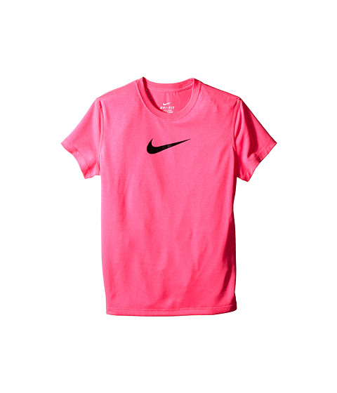 Nike Kids - Legend S/S Top (Little Kids/Big Kids) (Pink Pow/Pink Pow/Black) Girl's T Shirt