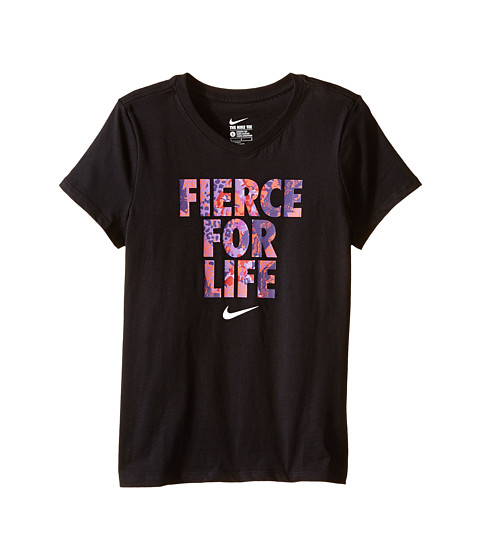 Nike Kids - Fierce For Life Tee (Big Kids) (Black/Black) Girl's T Shirt