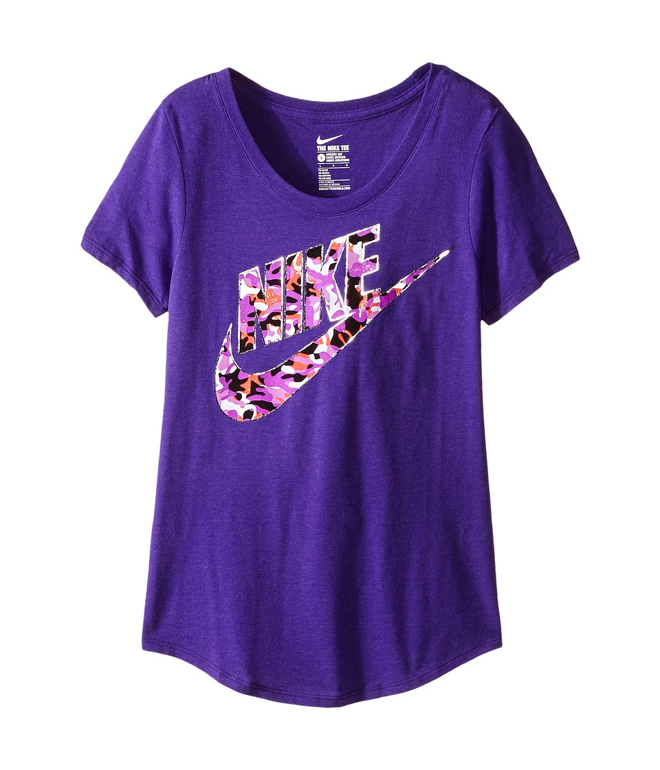 Nike Kids - Cat Season Futura Tee (Little Kids/Big Kids) (Court Purple/Court Purple) Girl's T Shirt