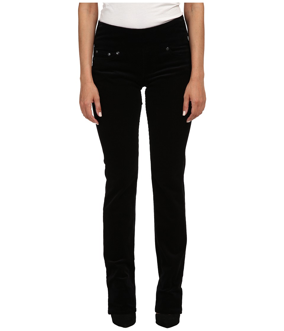 Jag Jeans Petite - Petite Peri Pull On Straight Wale Corduroy (Black) Women's Casual Pants
