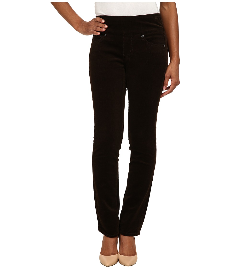 Jag Jeans Petite - Petite Peri Pull On Straight Wale Corduroy (Dark Chocolate) Women's Casual Pants