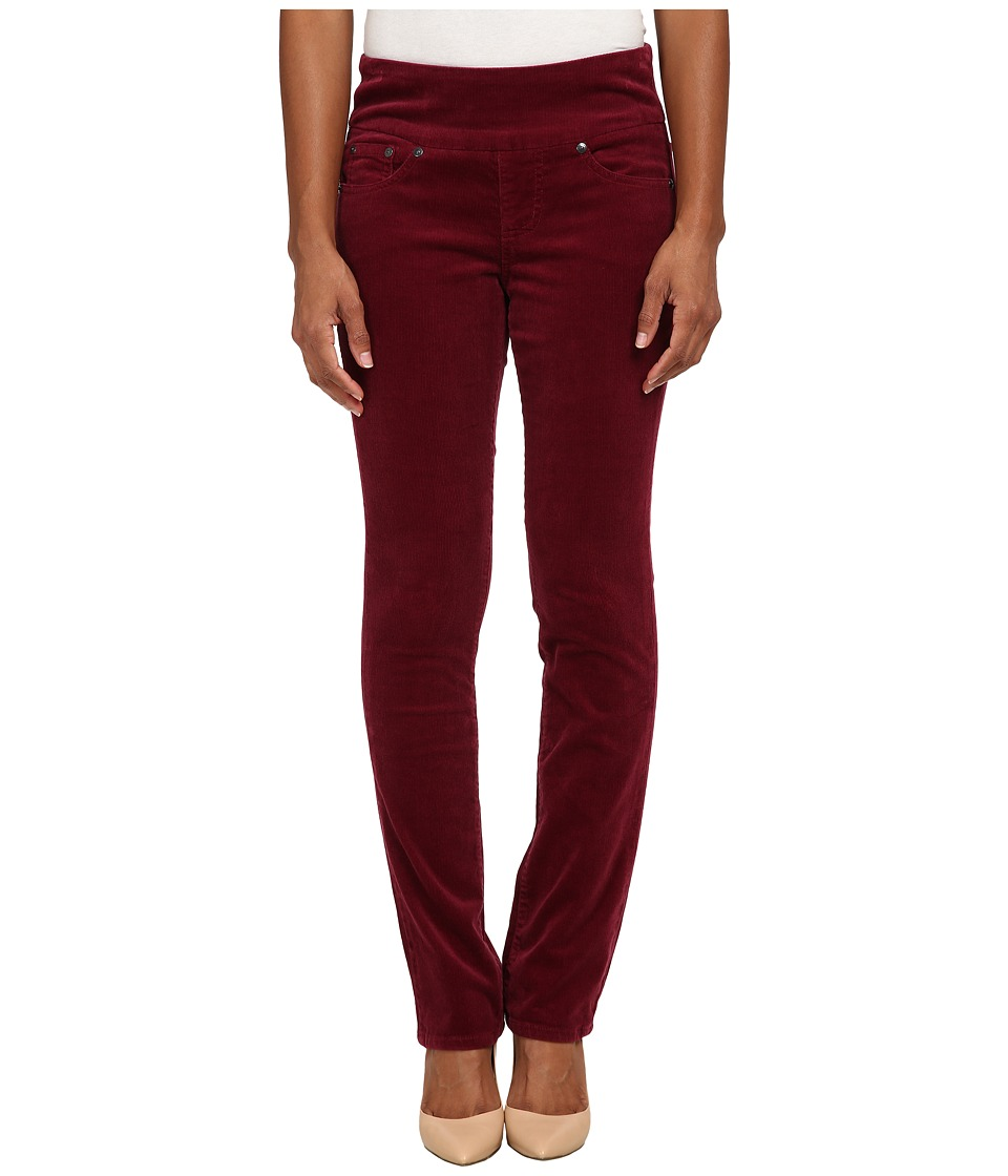 Jag Jeans Petite - Petite Peri Pull On Straight Wale Corduroy (Ruby Port) Women's Casual Pants
