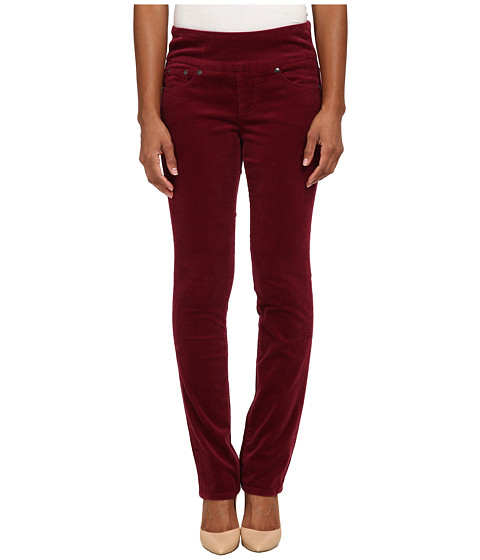 Jag Jeans Petite - Petite Peri Pull On Straight Wale Corduroy (Ruby Port) Women