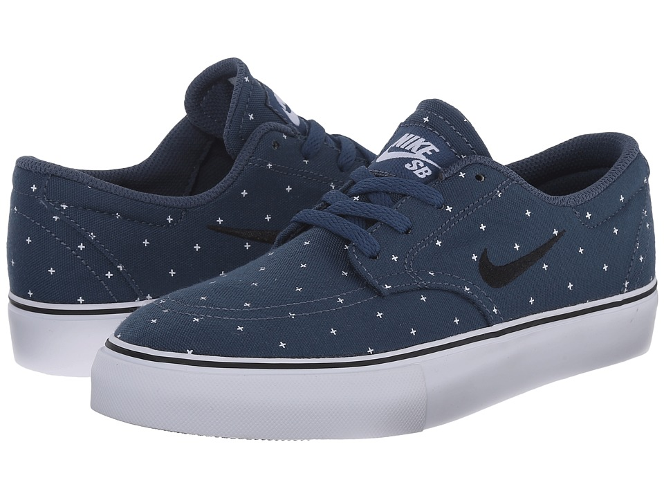 Nike SB Kids - SB Clutch PRM (Big Kid) (Squadron Blue/White/Black) Boys Shoes