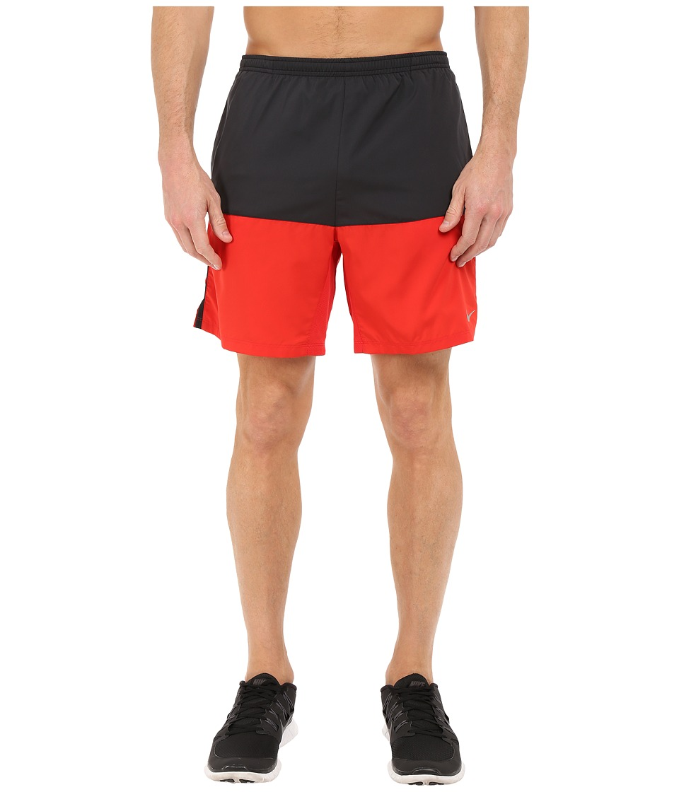 Nike 7 Distance Running Short (Black/University Red/Reflective Silver) Men