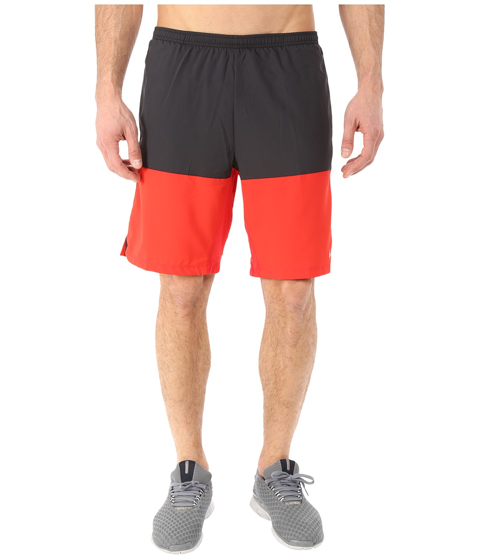 Nike - 9 Distance Running Short (Black/University Red/Reflective Silver) Men's Shorts