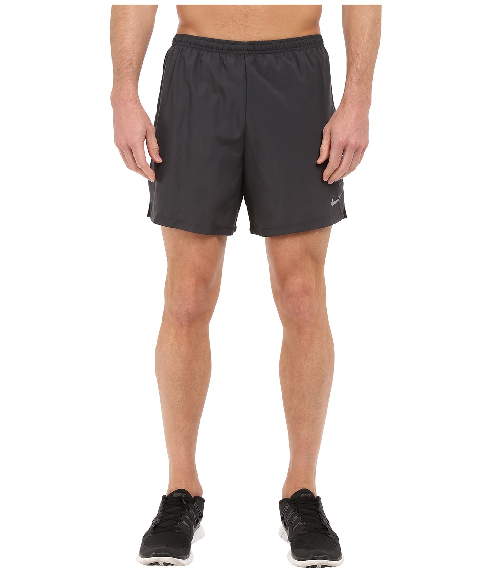 Nike - 5 Challenger Shorts (Anthracite/Black/Reflective Silver) Men's Shorts