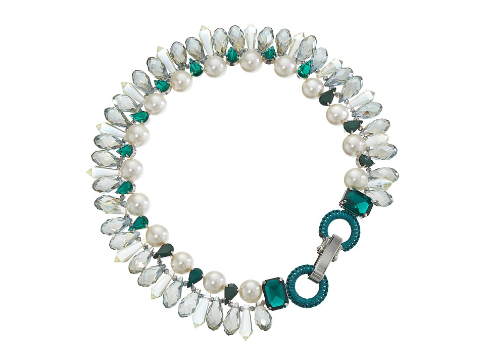 Gypsy SOULE - CRN36 (Emerald Green/White) Necklace