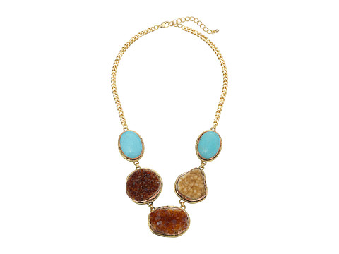 Gypsy SOULE - CRN28 (Turquoise/Brown/Gold) Necklace