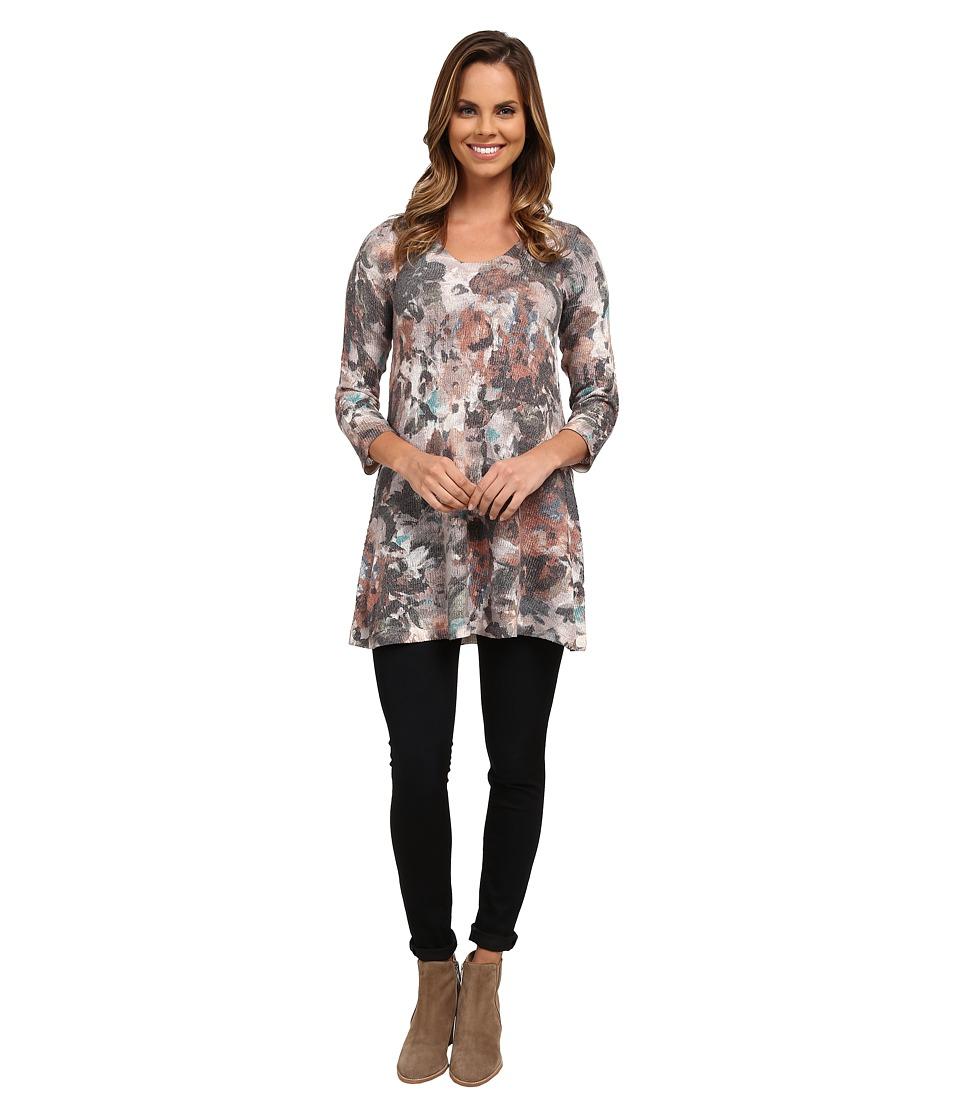Nally & Millie - 3/4 Sleeve Floral Tunic (Multi) Women