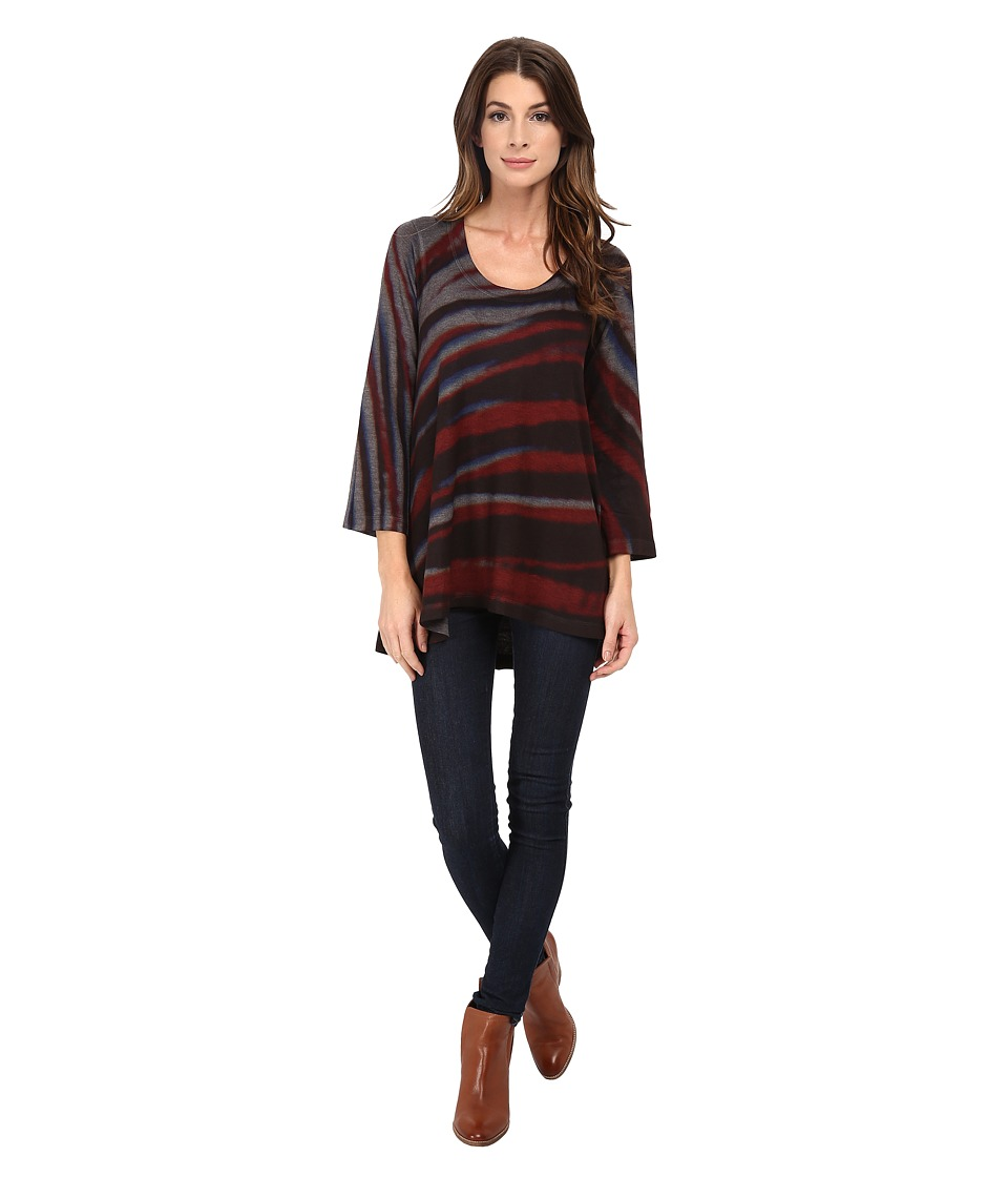 Nally & Millie - Handpainted Stripe High-Low Tunic (Multi) Women