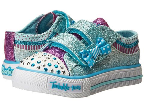 SKECHERS KIDS - Shuffles 10556N (Toddler/Little Kid) (Turquoise/Lavender) Girl's Shoes