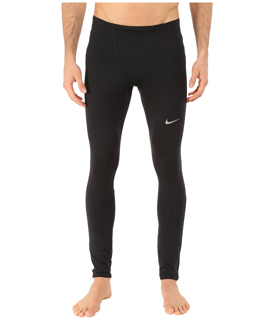 Nike - Dri-FIT Thermal Tights (Black/Reflective Silver) Men's Workout