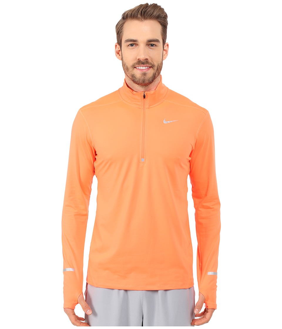 Nike - Dri-Fit Element Half-Zip Pullover (Hyper Orange/Reflective Silver) Men's Long Sleeve Pullover