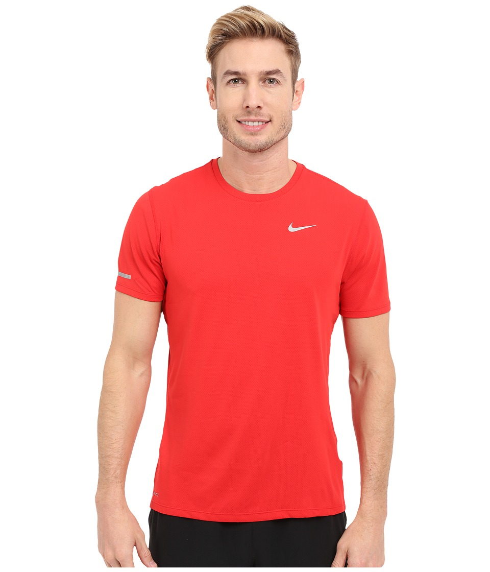 Nike Dri-FIT Contour S/S Running Shirt (University Red/Reflective Silver) Men