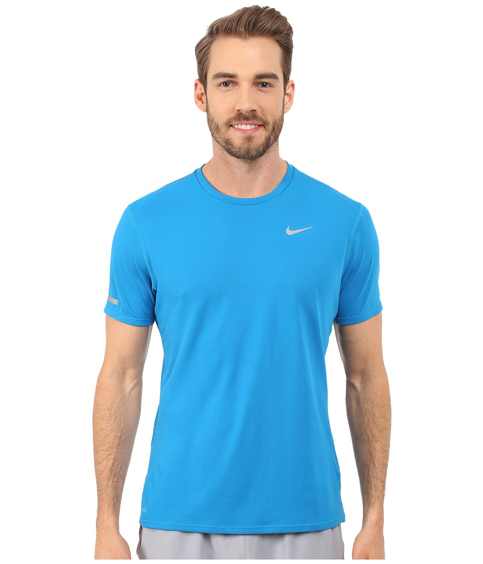 Nike - Dri-Fit Contour S/S Shirt (Imperial Blue/Reflective Silver) Men's T Shirt