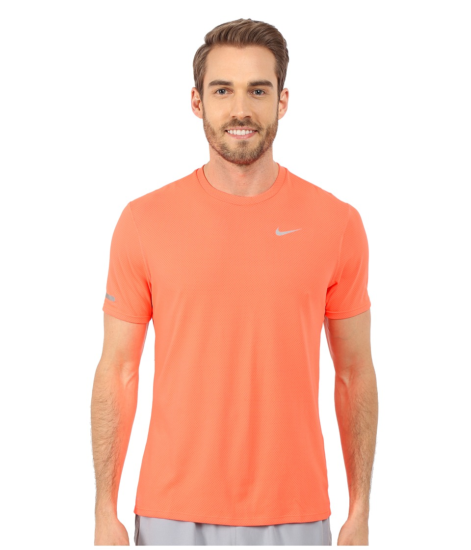 Nike - Dri-Fit Contour S/S Shirt (Hyper Orange/Reflective Silver) Men's T Shirt