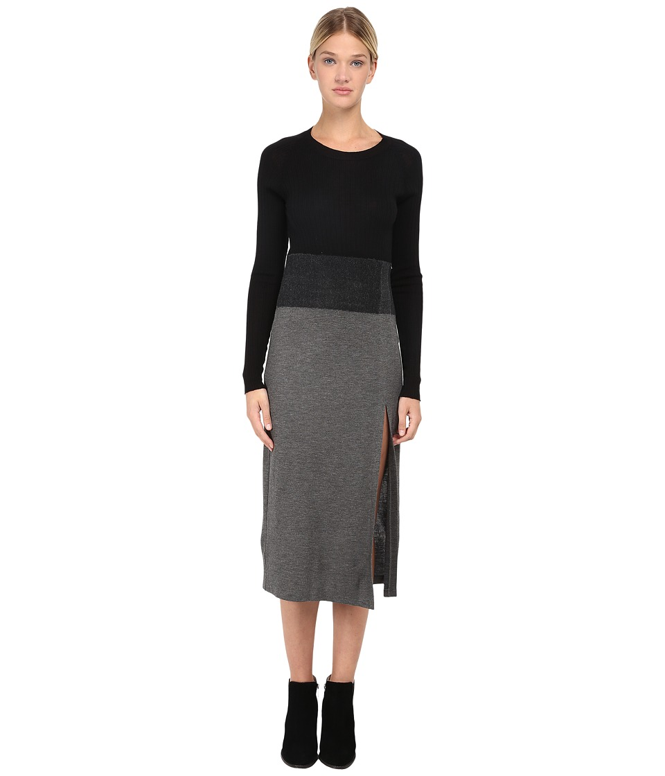 Neil Barrett - Needle Long Dress (Black/Slate) Women's Dress