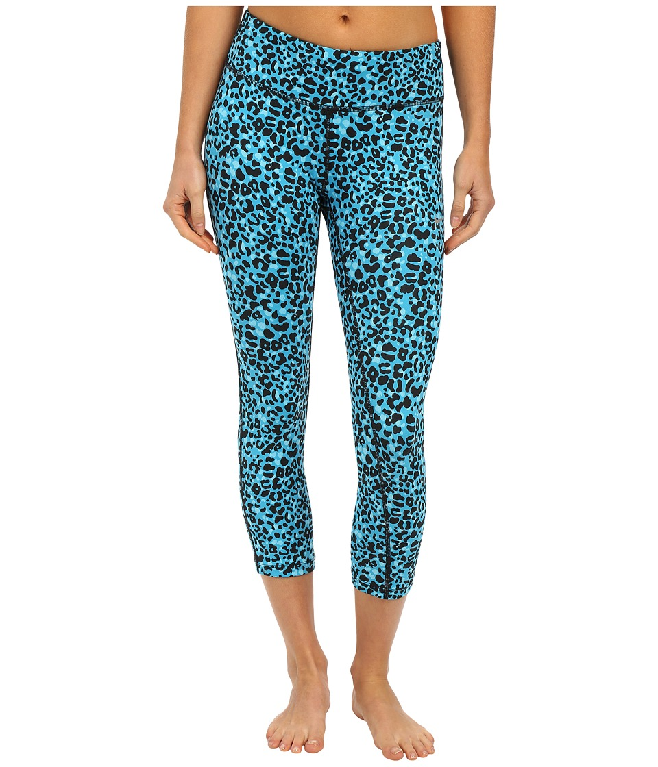 Nike - Lotus Epic Run Crop (Blue Lagoon/Reflective Silver) Women's Capri