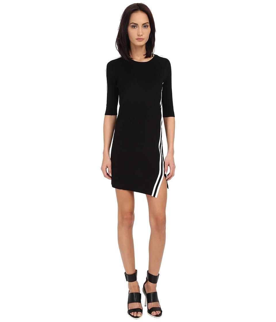 Neil Barrett Stripes Asymmetric Dress (Black) Women