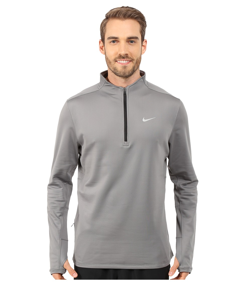Nike - Dri-FIT Thermal Half-Zip (Tumbled Grey/Reflective Silver) Men's Workout