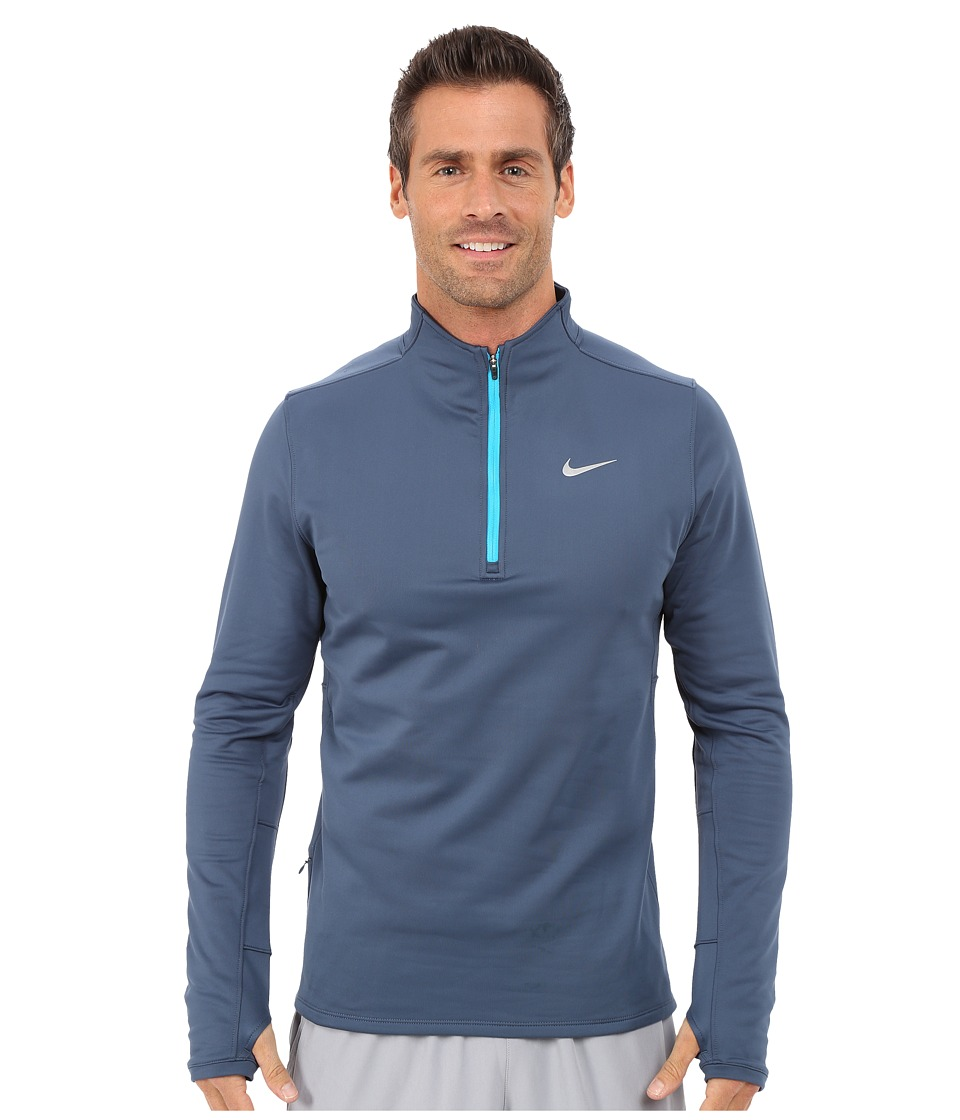 Nike - Dri-FIT Thermal Half-Zip (Squadron Blue/Reflective Silver) Men's Workout