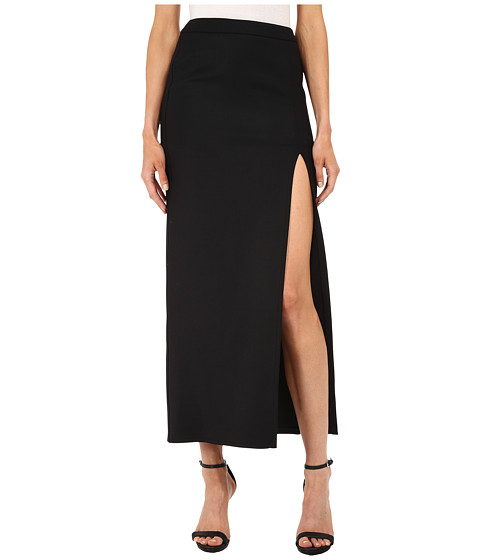 Neil Barrett - Vented Double Fitted Long Skirt (Black) Women's Skirt
