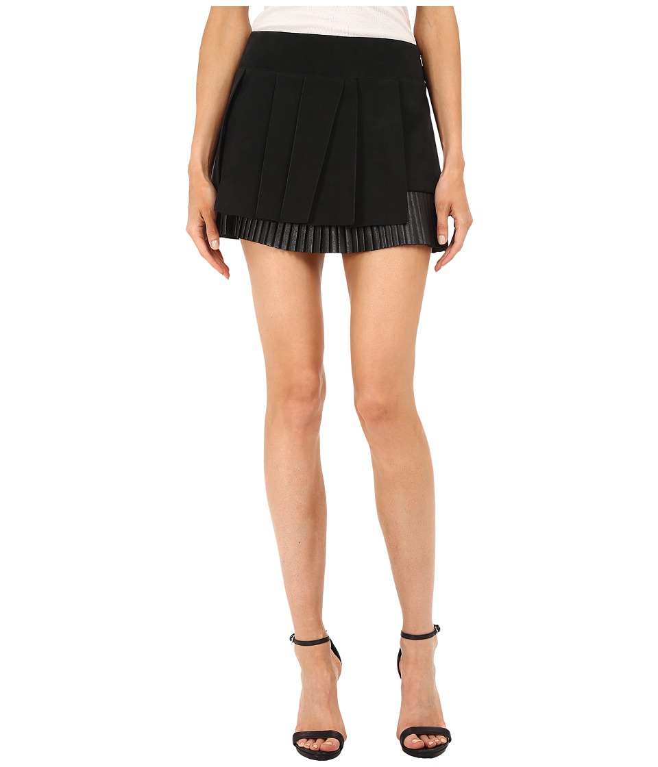 Neil Barrett - Raw Cut Plisse Skirt (Black) Women
