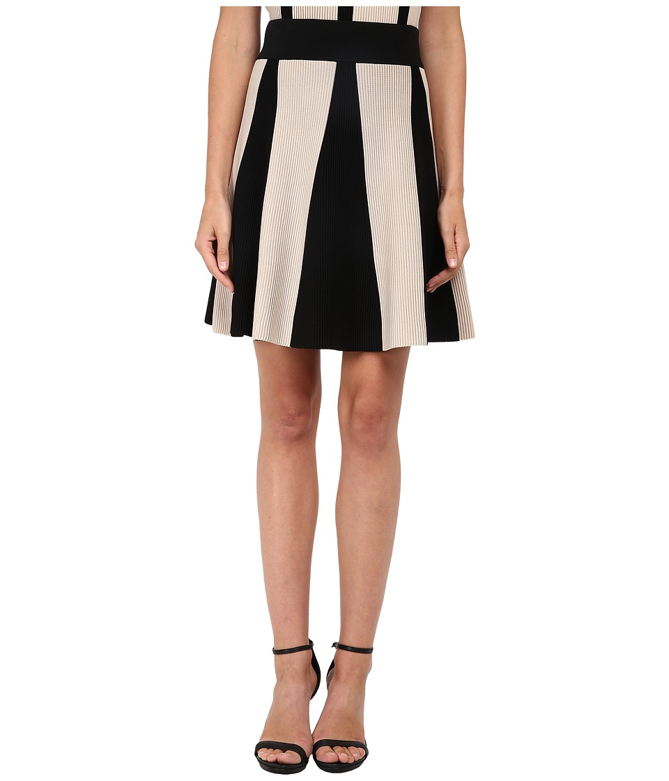 Neil Barrett - Bicolour Flared Skirt (Pearl/Black) Women's Skirt