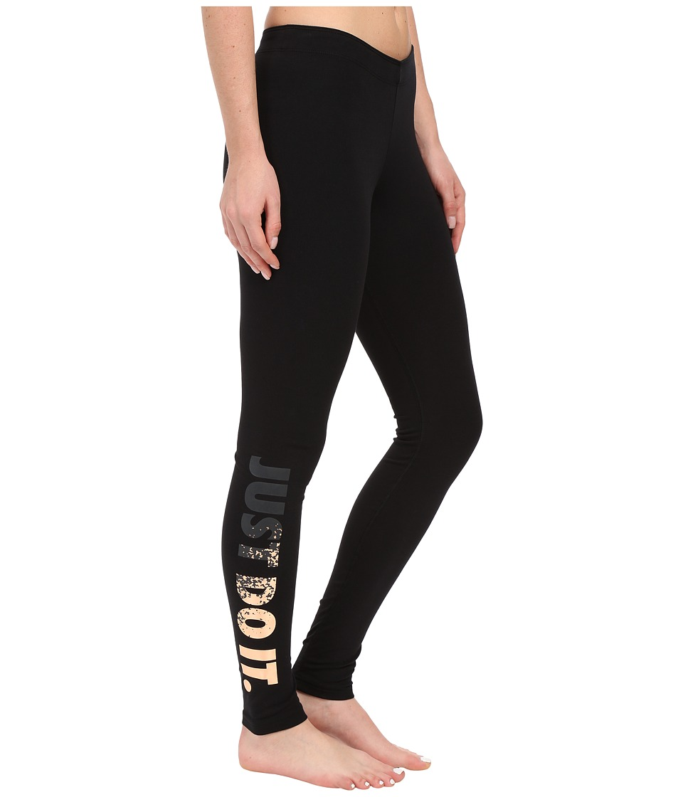 Nike - Leggings-A-See Just Do It Metal (Black/Anthracite) Women's Casual Pants