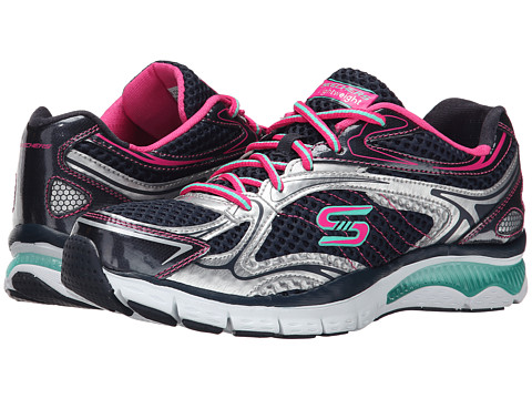 SKECHERS - Infusion - Neon Lights (Navy Pink) Women