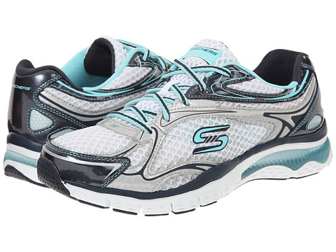 SKECHERS - Infusion - Neon Lights (White Blue) Women