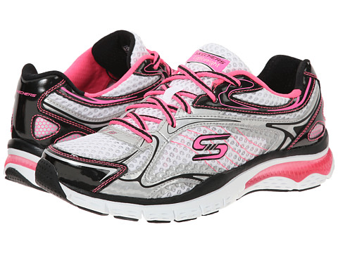 SKECHERS - Infusion - Neon Lights (White Blue Pink) Women's Shoes