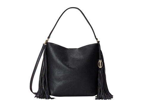 CARLOS by Carlos Santana - Fiero Fringe Bucket (Black) Hobo Handbags