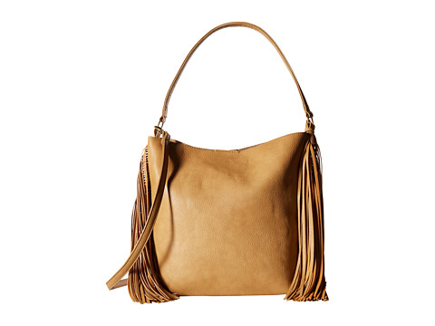 CARLOS by Carlos Santana - Fiero Fringe Bucket (Camel) Hobo Handbags