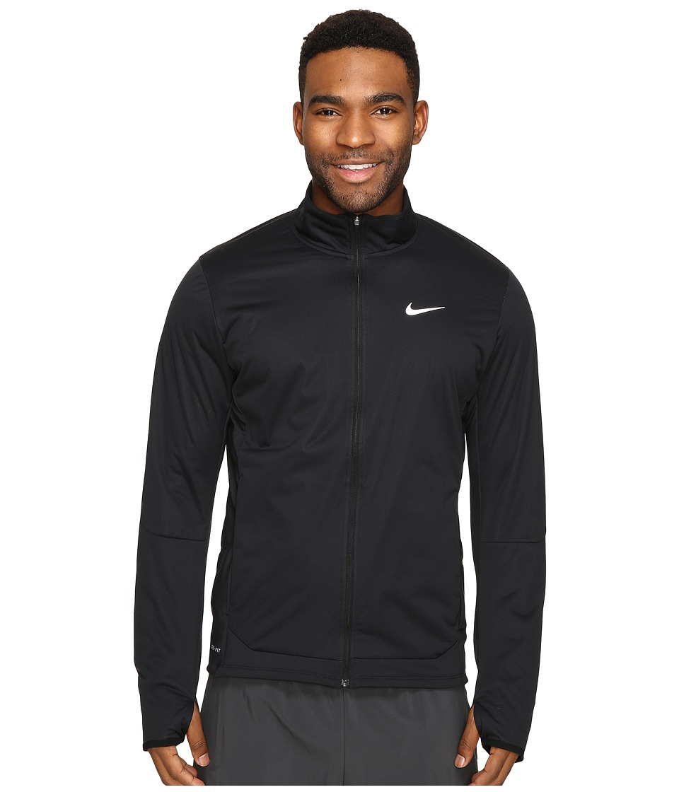 Nike - Shield Full-Zip Jacket (Black/Reflective Silver) Men's Coat