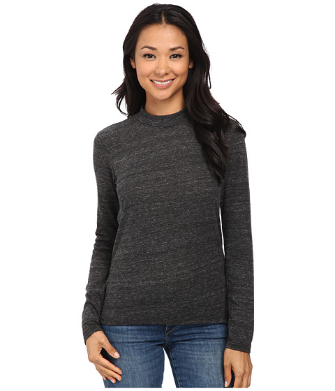 Alternative - Eco Jersey Locals Only Henley (Eco Black) Women