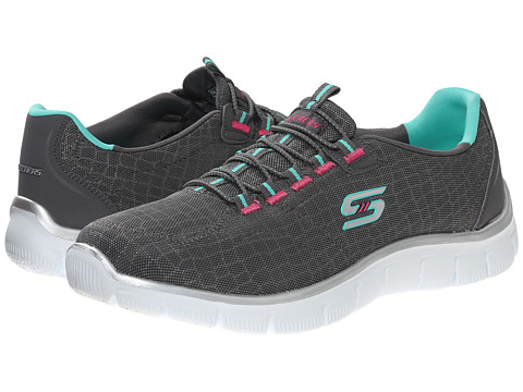SKECHERS - Empire - Rock Around (Gray Green) Women's Shoes