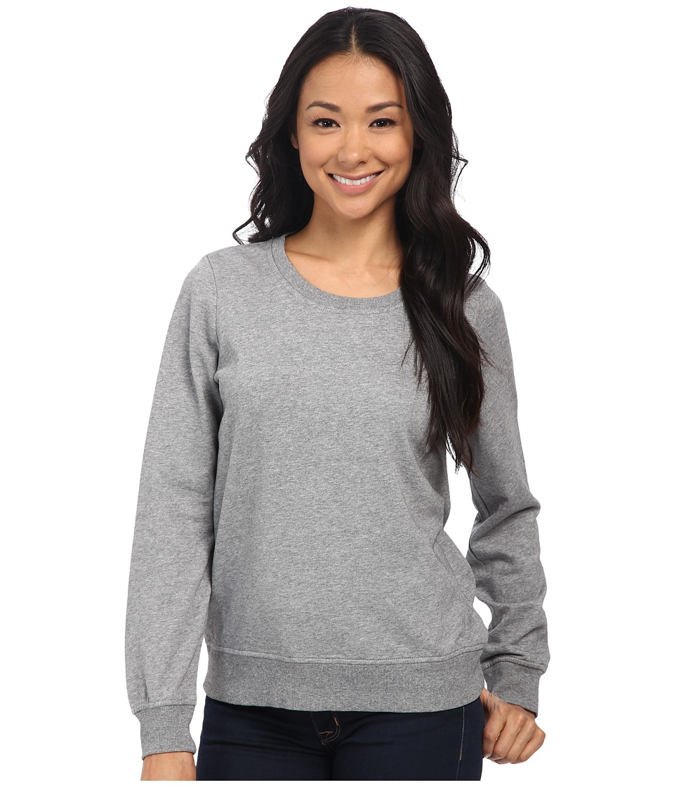 Alternative - Eco Micro Fleece Essential Crew Neck (Heather Grey) Women's Fleece