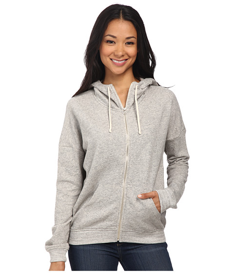 Alternative - Eco Micro Fleece Organic Zip Hoodie (Heather Grey) Women's Sweatshirt