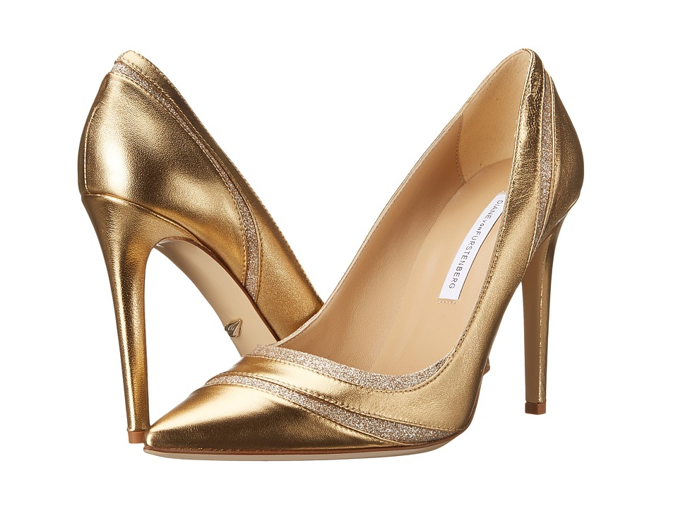 Diane von Furstenberg - Bandele (Gold Metallic Nappa/Fine Glitter) High Heels